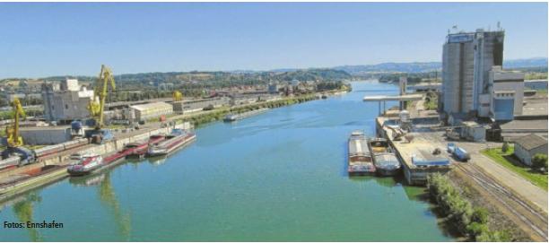 Der Ennshafen wird im Weißbuch der europäischen Kommission für Verkehrsentwicklung als Kernhafen für die Donauachse bezeichnet